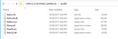 CDM files in AMD64