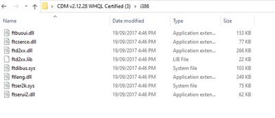 CDM files in i386