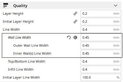 Quality Settings   Advanced 0.45 mm Mod