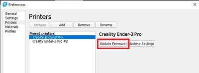 Update Firmware Icon   Cura