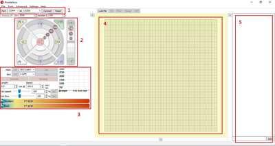 Pronterface Interface   Description